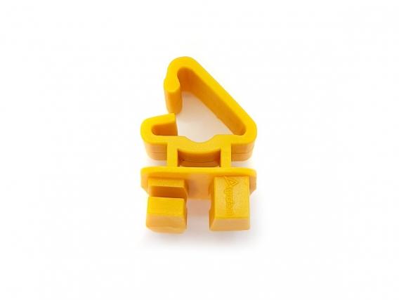 Aislador Poste De Acero Movil Amarillo Bolsa X 50