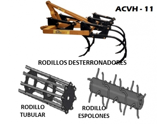 Arado de Cincel Vibratorio Horizontal INAMEC ACVH - 11