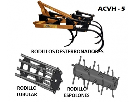 Arado de Cincel Vibratorio Horizontal INAMEC ACVH - 5