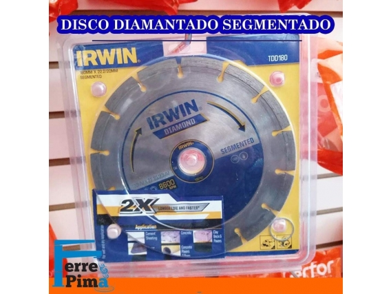 Disco diamantado segmentado Irwin
