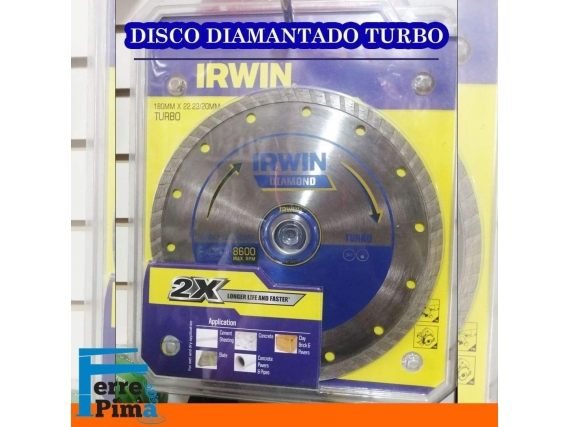 Disco diamantado turbo Irwin