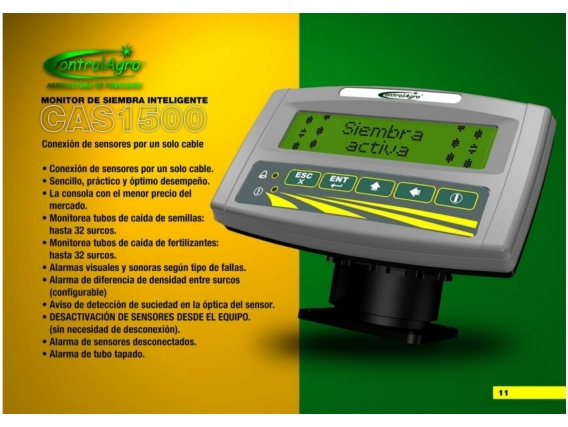 Monitor De Siembra Controlagro Cas 1500 Año 2021