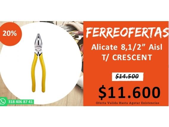 Alicate 8,1/2 Aisl T/ Crescent