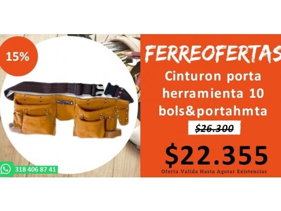 Cinturon Porta Herramienta 10 Bolsportahmta
