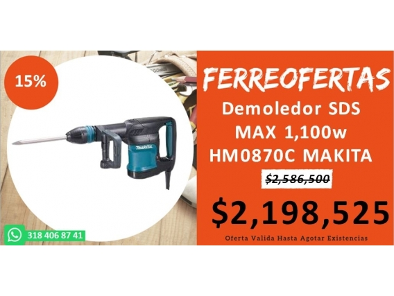 Demoledor Sds Max 1,100W Hm0870C Makita