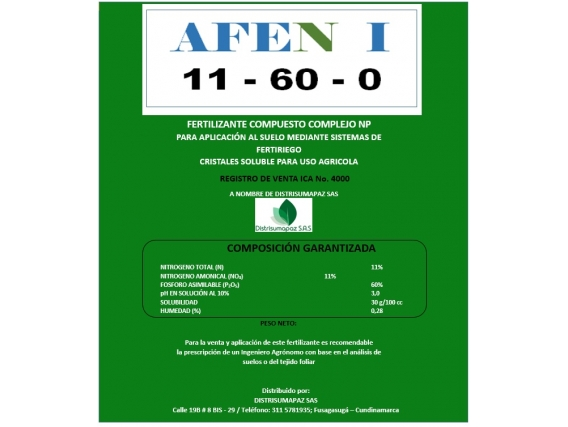 Fertilizante Afol Afen I 11-60-0