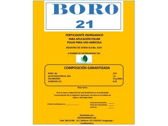 Fertilizante Afol Boro 21