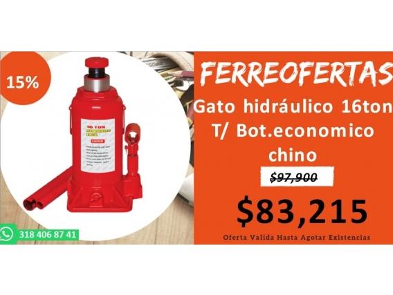 Gato Hidráulico 16Ton T/ Bot.economico Chino