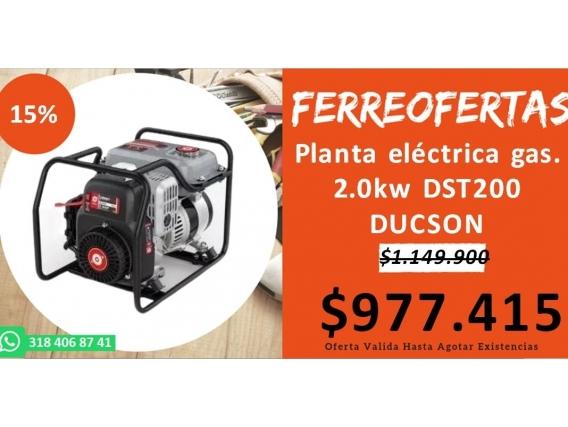 Planta Eléctrica Gas. 2.0Kw Dst200 Ducson