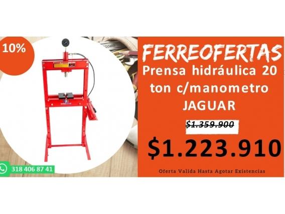 Prensa Hidráulica 20 Ton C/manometro Jaguar