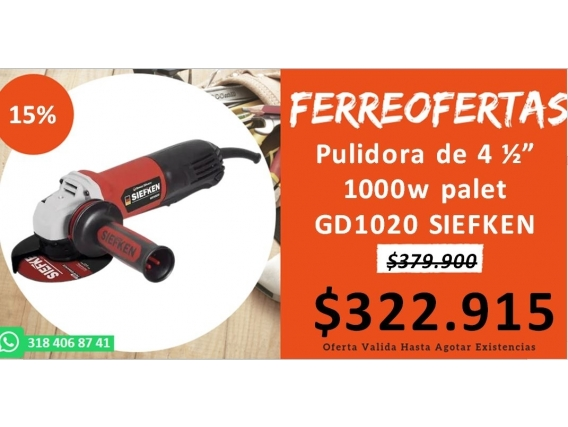 Pulidora De 4 1000W Palet Gd1020 Siefken