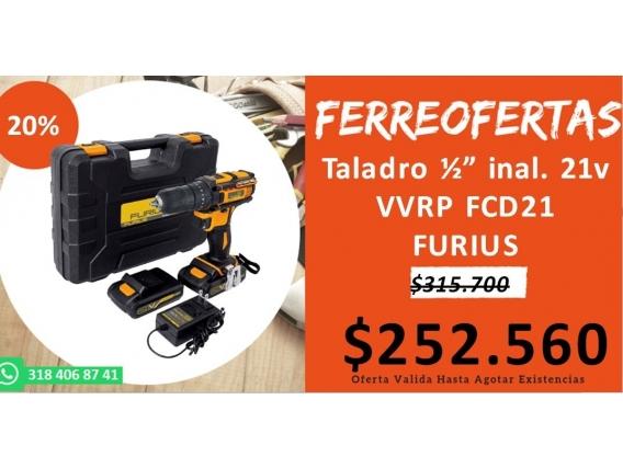Taladro Inal. 21V Vvrp Fcd21 Furius