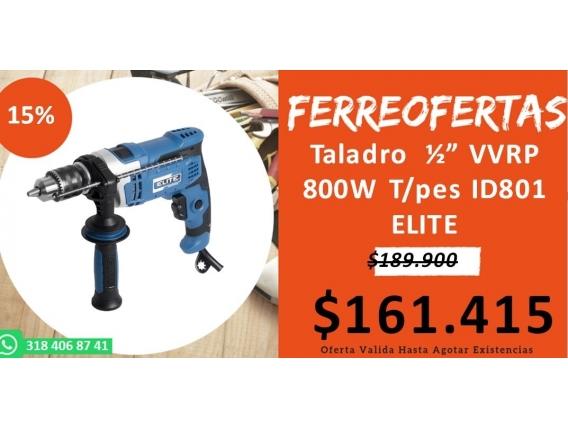 Taladro Vvrp 800W T/pes Id801Elite