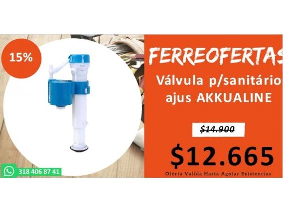 Válvula P/sanitário Ajus Akkualine
